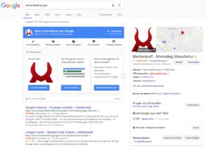 Google My Business Eintrag - medienkraft.at