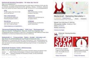 Google My Business - Eintrag in den Suchergebnissen