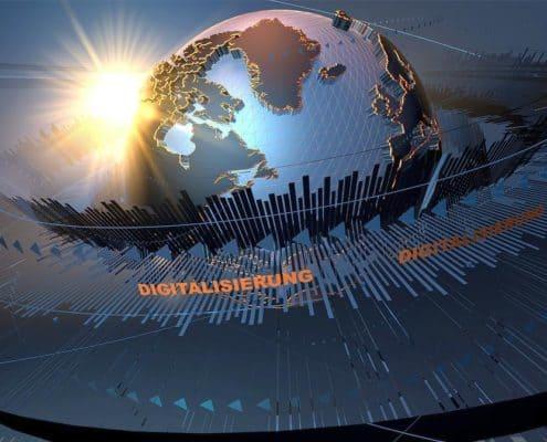 Transformation, Digitalisierung, Disruption - Weltkugel