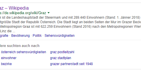 Short-Click Snippet Suchmaschinen Marketing
