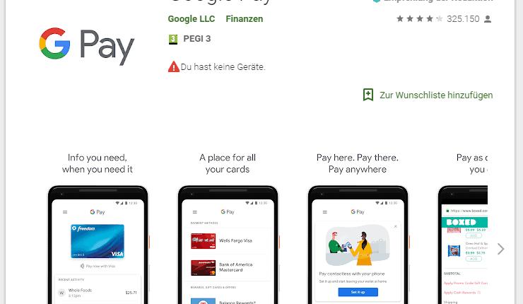 Google Pay in Deutschland verfügbar
