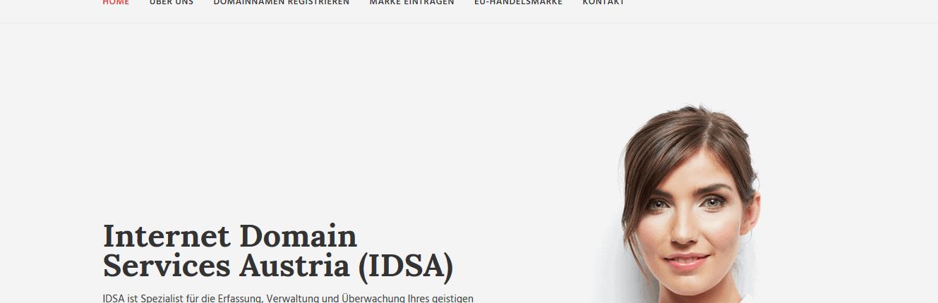 idsa.at - Betrugs-Falle Domain kaufen