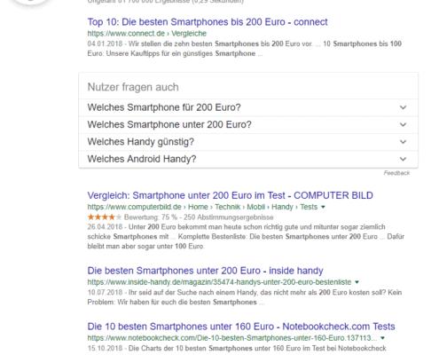 """Google Suche, Operator """"Preisspanne"""""""