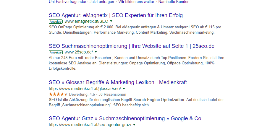 """Google Suche, Operator """"site:"""""""