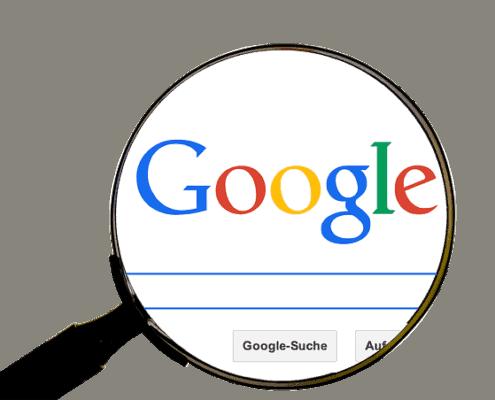 Google Suche Suchmaske & Lupe
